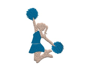Jumping Cheerleader Machine Embroidery Design