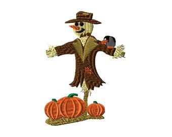 Mr.Scarecrow Harvest Scene Machine Embroidery Design