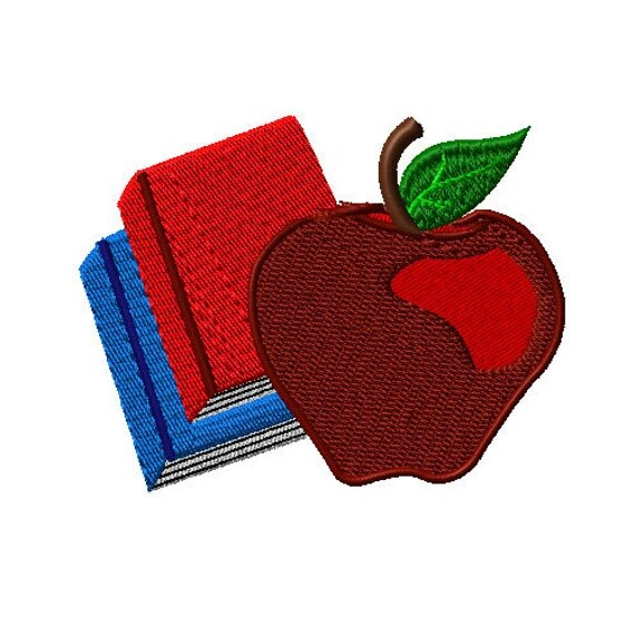 Apple books back to school machine embroidery design school for Apple design book