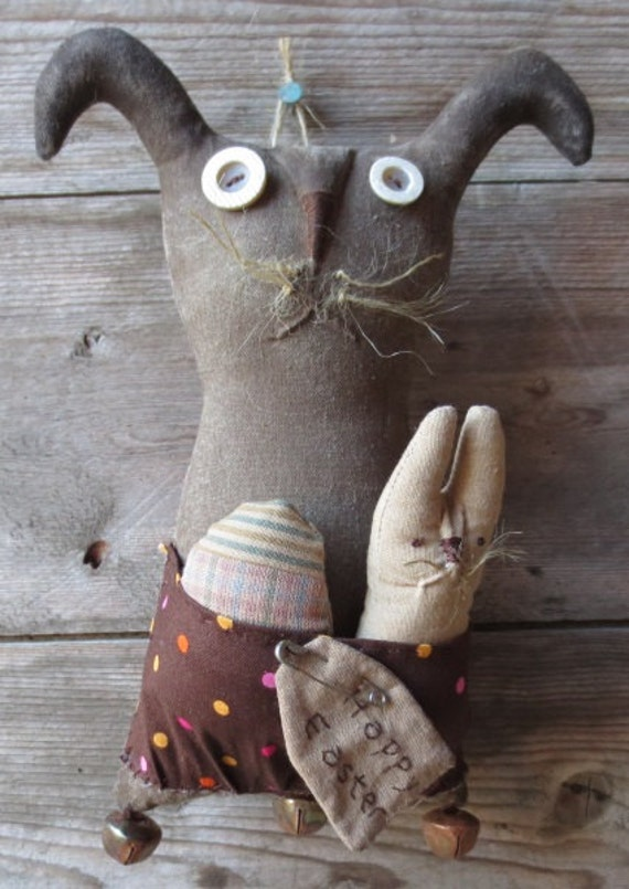 Extreme Primitive Spring Bunny Pocket Doll - Primitive Bunny