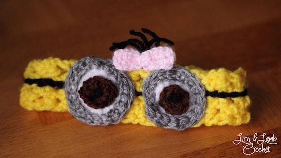 Items similar to Crochet Minion Headband on Etsy
