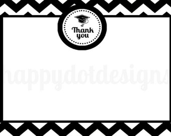 handmade graduation thank you cards etsy. Black Bedroom Furniture Sets. Home Design Ideas