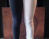 Women's Half & Half Bicoloured Skinny Jeans