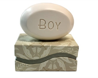 Soap Sentiments - Personalized Scented Soap Bar Engraved with Boy