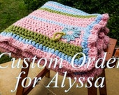 100% Organic Cotton Embroidered Crochet Baby Blanket Afghan