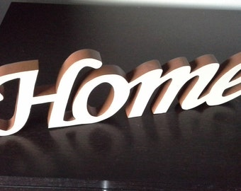 Wooden Word Sign Home Decorative Script Word Freestanding