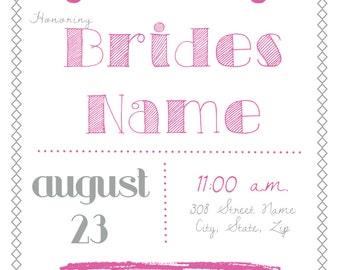 Simple bridal shower invite