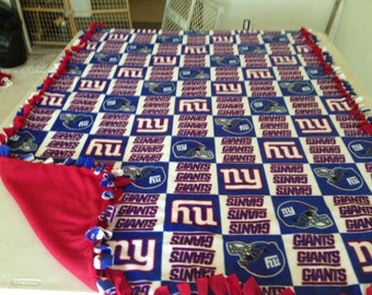 New York Giants hand tied fleece blanket
