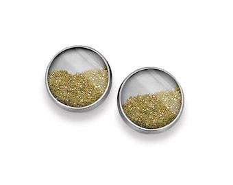 Small Diamond Dust Post Earrings