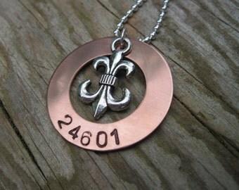 Les Miserables 24601 Copper Hand Stamped Necklace - Jean Valijean