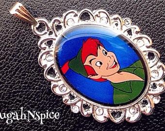 Peter Pan pendant Disney Peter Pan necklace pendant Peter Pan Pendant Cabochon Peter Pan jewelry pendant