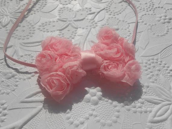 Light Pink Bow Baby Headband, Newborn Headband,  Infant Headband,Baby Headband, Headband Baby, Baby Headband