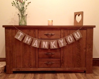 Thankyou Vintage Wedding Hessian/Burlap Bunting