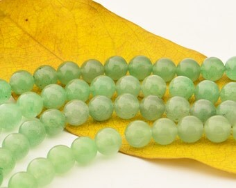 15.5INCH  Natural  Green  Aventurine   Bead Gemstone   Smooth Round