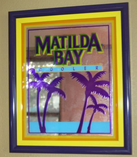 Matilda Bay Wine Cooler Framed Mirror Vintage Art Deco