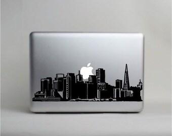 Macbook Decal San Francisco Etsy - Custom vinyl stickers san jose