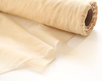 Light Nude Beige Chiffon Like Fabric by the Yard  LWW00032R