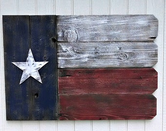 Personalized Rustic Texas Flag