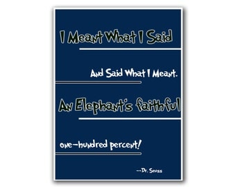 Dr. Seuss Poster Art Quote Wall Decor (S25)