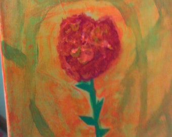 mixed media flower