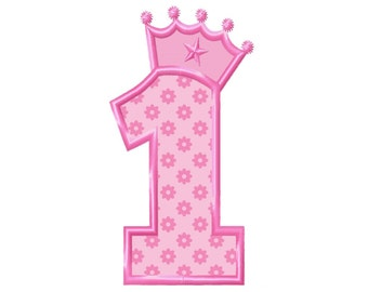 Birthday Crown No. 1 Applique Machine Embroidery DESIGN NO. 97