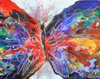 Butterfly Print, Watercolour Butterfly, Giclee Print, Wall Art, SonyaReynoldsArt