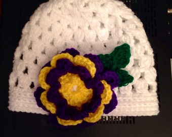 Baby Cute Beanie with 3d Flower