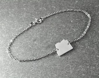 Free shipping  - Arizona state bracelet  state Charm Bracelet  custom state bracelet  state jewelry  choose your state charm