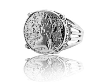 Coin Ring Silver ring SIlver Jewelry Vintage Ring Coin Jewelry