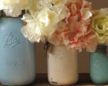 Distressed  Mason Jars, rustic mason jars, big mason jars, wedding mason jars, country chic, rustic wedding, country wedding, mason vase