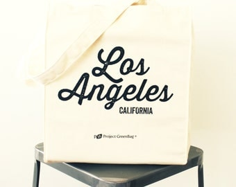 Los Angeles Tote - 100% Organic Cotton Reusable Shopping Bag - Made in USA