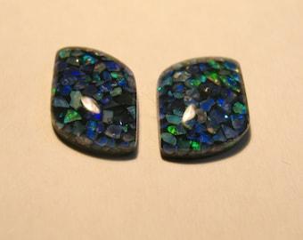 Opal Triplet Pair // gesmtone stone gems loose metalsmith silversmith earrings wire wrap