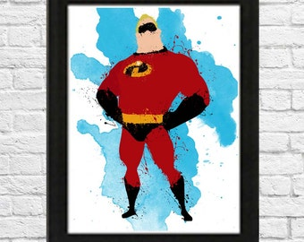 Mr. Incredible Poster Minimalist various sizes available