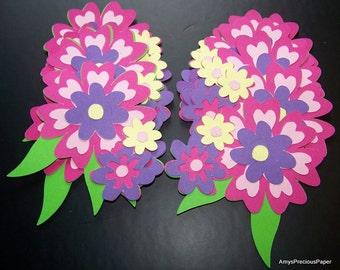 Flower bouquet die cut