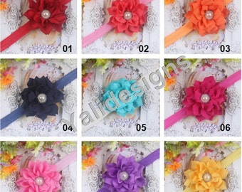 U Pick Wholesales Spike Flower Headband Baby Headbands. Rhinestone Pearl Headband Newborns Headbands. Girl's Headband YTH33