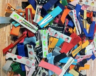 25 Ribbon Lined Alligator Clips