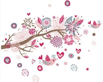 Pink Branch Wall Decal