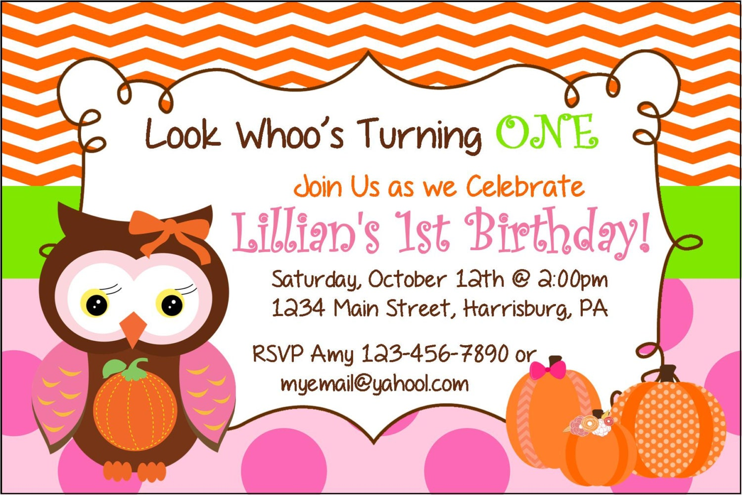 Fall Owl Printable Invitation - Personalized Shower or Birthday ...