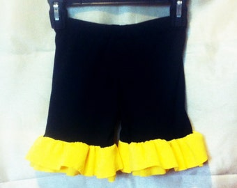Baby/Toddler/Girls knit ruffle shorts