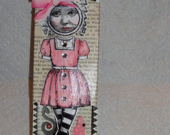 Pretty in Pink Altered Matchbox Girl!