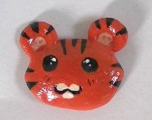 Cute Tiger Head Polymer Clay Magnet