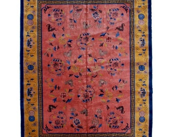 6971 Art Deco Chinese Rug circa 1910