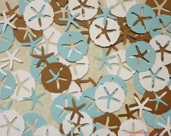100 Sand Dollar & Starfish DieCuts Confetti Punches