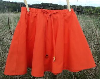 Girls Orange Halloween Skirt - Orange Halloween Skirt - Girls Halloween Skirt - Girls Size 5 Halloween Skirt - Girls Size 5 Skirt