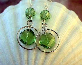 SALE 30% OFF - Regina14 - Sterling Silver Earrings, Swarovski Crystals, Sterling Silver Earwires, Dangle Earrings
