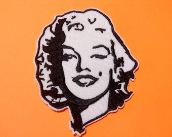 Iron on Sew on Patch:  Marilyn