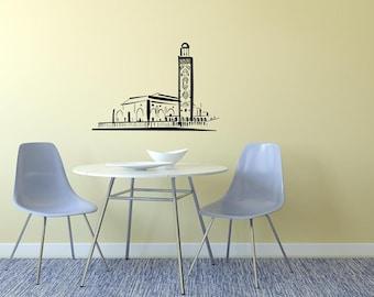 Mosaic Building Skyline Vinyl Wall Decal  Wall Art Sticker Room Decor