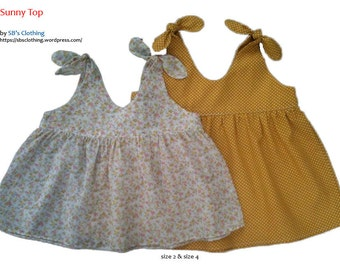 Sunny Top - Pdf sewing pattern size 2-3-4-5-6-6x