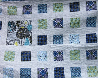 Blue and White Large Quilt
