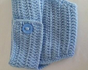 Crochet Diaper Cover in Baby Blue